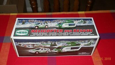 """Hess 2012 Toy Truck """"Helicopter and rescue vehicle' + original box"""