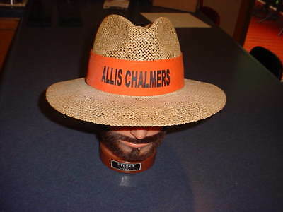 VINTAGE Allis Chalmers Cowboy Straw Sun Hat Tractor Farming Advertising New Cond