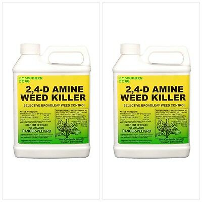 Southern Ag 2,4-D Amine Weed Killer Selective Broadleaf Weed Control, 32 Ounce