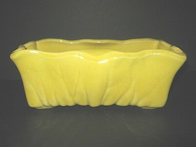 Vintage McCoy Yellow Glazed Ruffled Rectangle Pottery Planter in Excellent Cond.