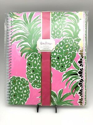 Lilly Pulitzer Large Notebook Pineapple Engineered, New