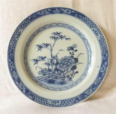 18Th Century Chinese Porcelain Blue And White Plate