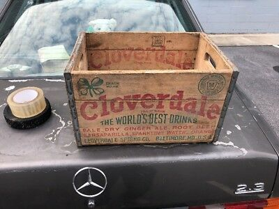 Cloverdale The Worlds Best Drinks Wooden Crate