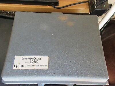 Compute A Charge Model CC-500 and owners manual Control Power Systems CPS