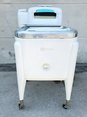 "Vintage Maytag Wringer Washer- Model ""E2LS"" Washing Machine Square-(VERY CLEAN)"
