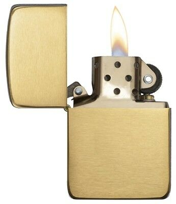 Brushed Brass Classic Zippo 1941 Model Windproof Refillable Pocket Lighter