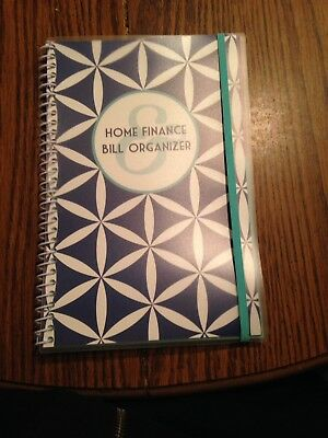 Bill Organizer & Home Finance Book Blue Diamonds Budget New Design!!