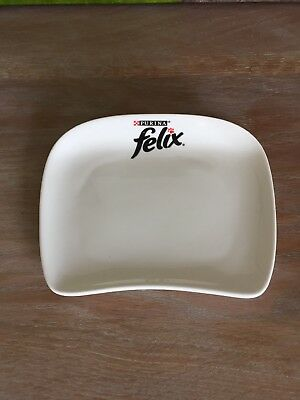Limited Edition Purina Felix Ceramic Cat Feeding Bowls/Dish
