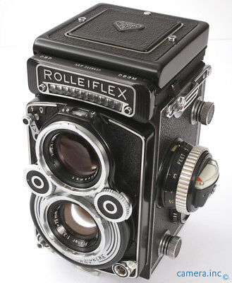 Rolleiflex 3.5F Zeiss Planar 75mm 3.5 TLR 120 Camera Clean  *Shutter Needs CLA*