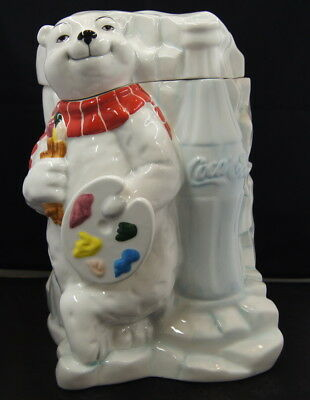 Coca Cola Polar Bear Cookie Jar Work of Art 2000