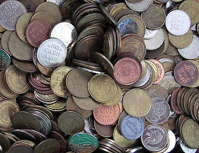 Nice mix of one Kilo of 60% Foreign coins and 40% Token Lot   and gifts