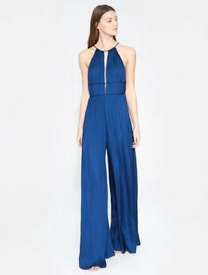 f31e214e3ec7 NEW HALSTON HERITAGE Womens High Neck Jumpsuit - Admiral Blue ...