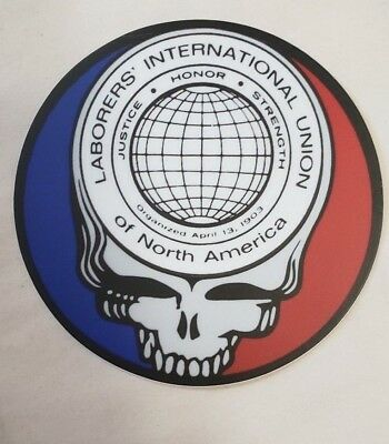 "Laborers  Union ""Steal your Face "" hard hat stickers Union Laborer LIUNA"