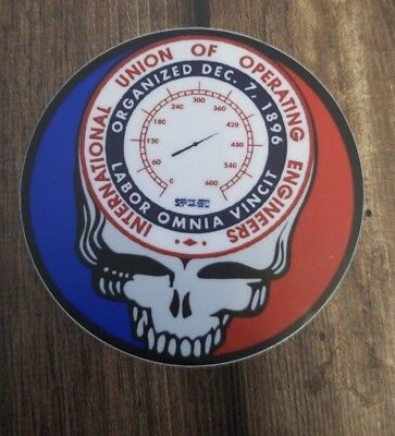 "Operating Engineers Union  ""Steal your Face "" hard hat stickers"
