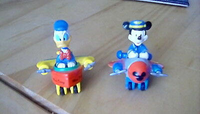 Mickey Mouse & Donald Duck Die-Cast Aeroplane Figures