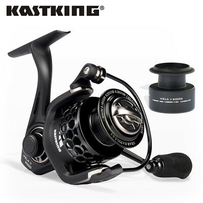 KastKing Carbon Fiber Drag Spinning Reel Extra Spool Freshwater Saltwater Fish