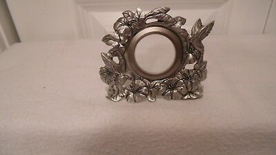 Mini Pewter Picture Frame With Humming Birds And Flowers