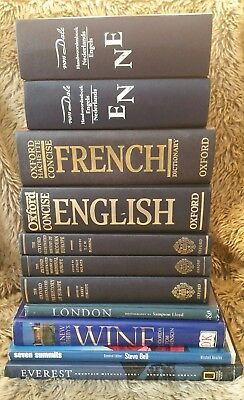 Job Lot of 23 Books including English & Foreign Dictionaries Phrasebooks History