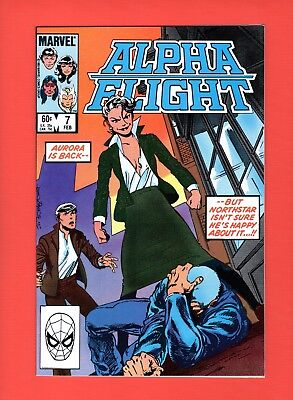 Alpha Flight #7  --  John Byrne - Aurora!  -- --  NM  cond.