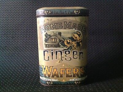 Home Made Ginger Wafers, Famous Biscuit Co. Vintage Tin Made In England.