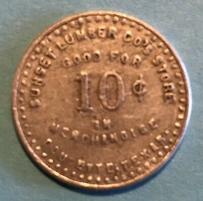 Doucette, Tx Token, Sunset Lumber Co's Store, Merchandise Order 10