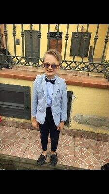 John Lewis Heirloom and Zara boys suits age 6-7 with Next Bow tie Occasion