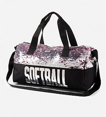 Justice Girl's Softball Flip Sequin Duffle Bag NWT