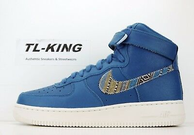 NIKE AIR FORCE 1 High '07 LV8 Industrial Blue Classic 806403 402 Msrp $110 BB