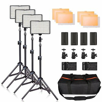 LED Video Light Kit with Stand, SAMTIAN 160 Dimmable Photography Lighting Set