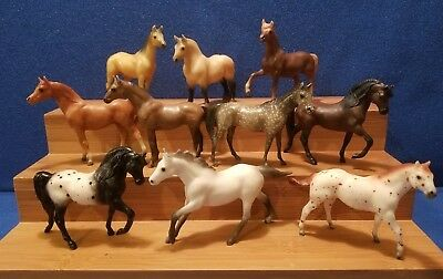 Vintage Breyer Molding Co. Miniature Horse Lot of 10, 1975 Nice collection