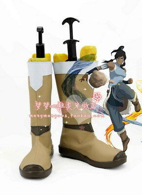 Avatar The Legend of Korra Cosplay Shoes Boots For Halloween custom made