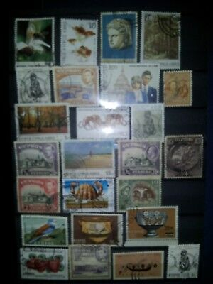 Cyprus,25 x used stamps as shown