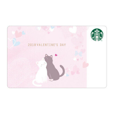 Starbucks coffee Korea 2018 Valentine's Day Card a gift with sleeve