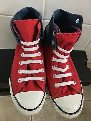 Converse Chuck Taylor All Star II High Tops Red/blue Colour Size 6/36