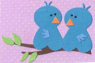 Die Cut -  Love Birds (Kit)  Blue
