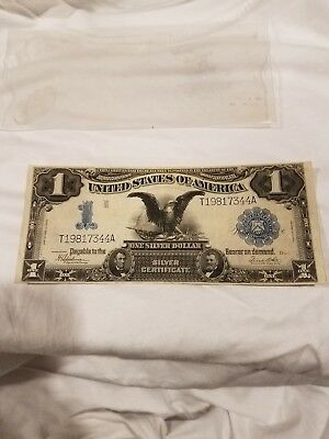 1899 One Dollar Silver Certificate Large Bill