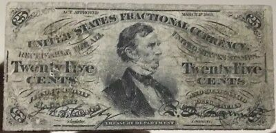 1863 Fractional Currency 25 Cents 3rd Issue, William P. Fessenden FR-1294