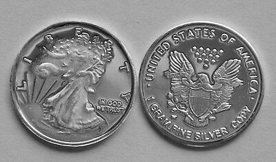"""/"""" THE QUEENS SKULL /"""" 1 Gram .999 Pure Solid Silver Bullion Art-Round New//Mint"""