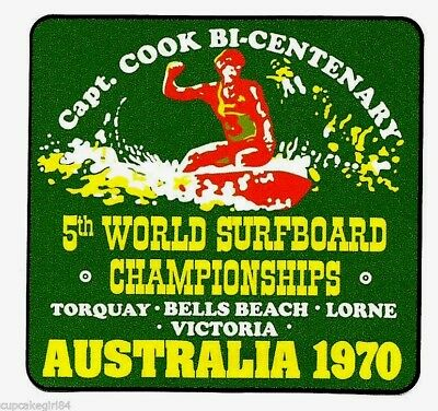 BELLS BEACH 1970 WORLD SURFBOARD TITLES VINYL Sticker Decal Surfing VW FORD