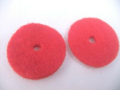 FELT PADS RED FOR SEWING MACHINE SPOOL PIN x2 Janome,Singer,Brother,Elna,Bernina