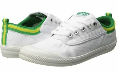 Volley International Men's Sneakers Casual Lace Up Shoes Canvas White/Green