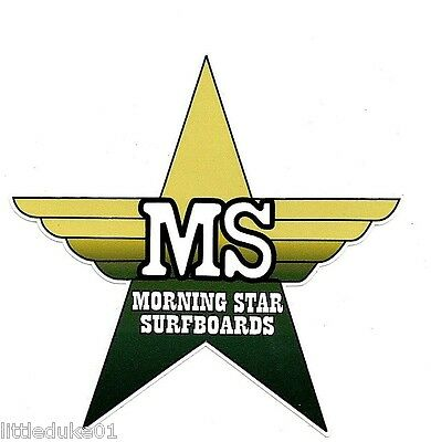 MORNING STAR SURFBOARDS 1970s Surfboard Manufacturer NSW Sticker Decal Surfing