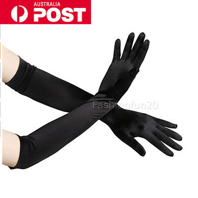 Fashion Satin Long Gloves Opera Wedding Bridal Evening Party Prom Costume Glove