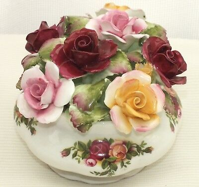 Royal Albert Old Country Roses Large Flower Posy  In Bowl/pot