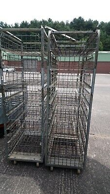 Trolley Tray Racking, Basket, Storage Mobile Racking With Baskets
