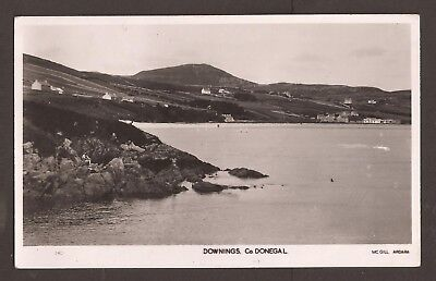 Ireland old B&W unused but stamped postcard. Downings Co. Donegal