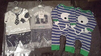 Bundle of  baby boys clothes summer sets  size 0-3 months BNWT