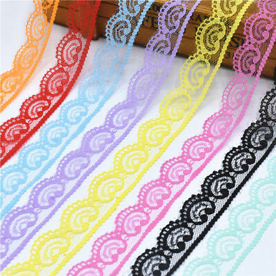 10Yards Lace Ribbon 22MM Trim DIY Handicrafts Embroidered Cord Sewing Decoration