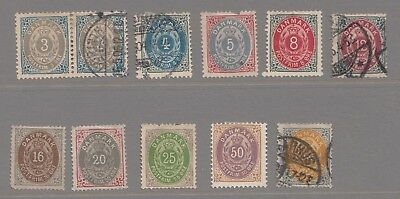 1880s Classic Denmark    Bicolours  mix used and unused without gum