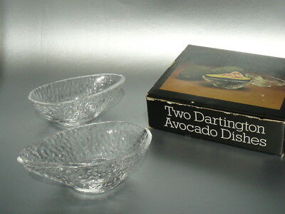 Glass Art Glass 2 Dartington Handmade Glass Advocado Dishes Boxed Frank Thrower 3 Sets Available